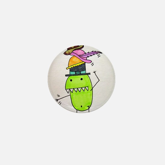 Pea Monster's Hats Mini Button