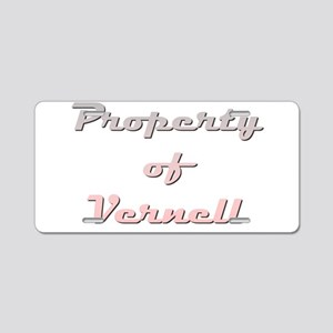 Property Of Vernell Female Aluminum License Plate