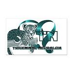 TN Leopard Ribbon Heart Rectangle Car Magnet