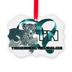 TN Leopard Ribbon Heart Ornament