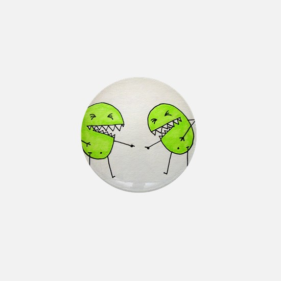 Laughing Pea Monster Mini Button