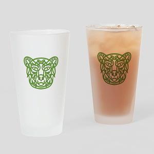 Bear Celtic Knot Drinking Glass