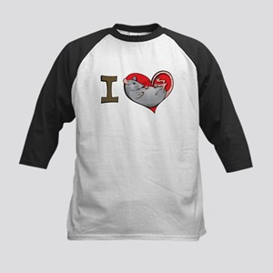 I heart rats (grey) Kids Baseball Jersey