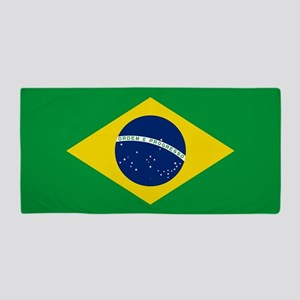 Flag of Brazil Beach Towel