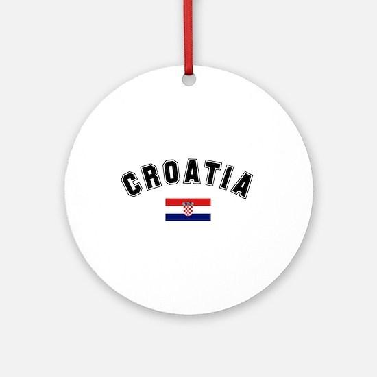 Croatia Flag Ornament (Round)