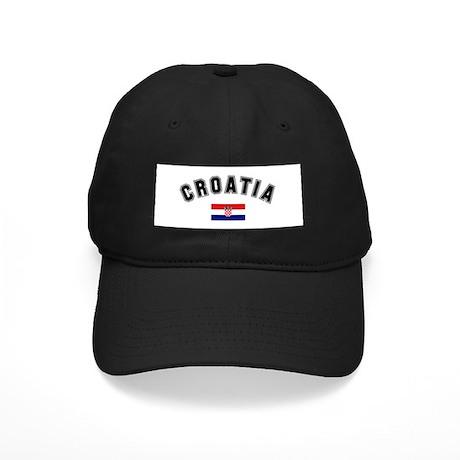 Croatia Flag Black Cap
