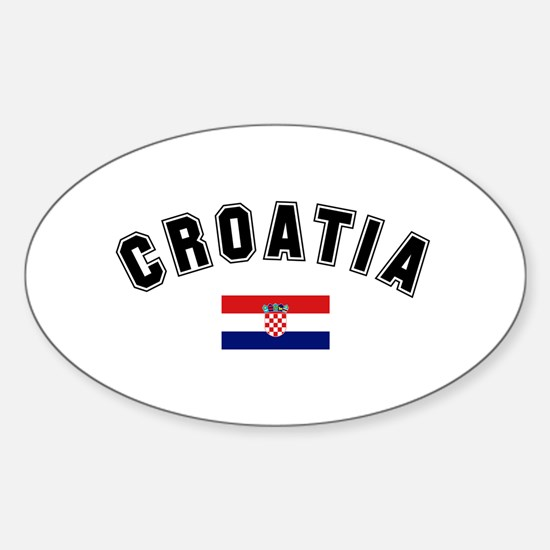 Croatia Flag Oval Decal