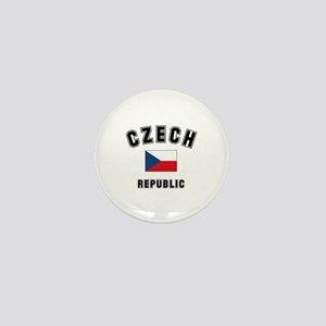 Czech Republic Flag Mini Button
