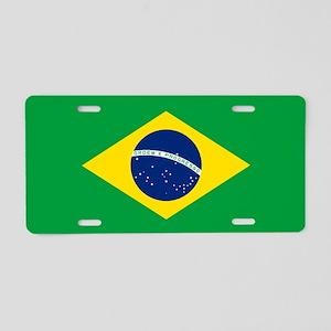 Flag of Brazil Aluminum License Plate