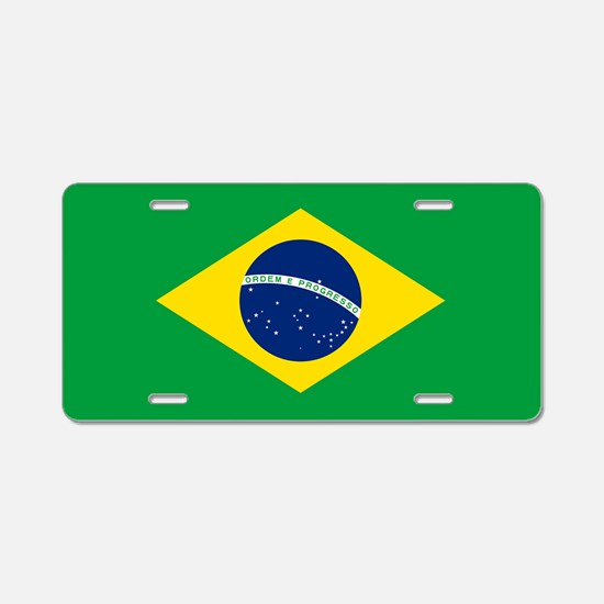 Flag of Brazil Aluminum License Plate