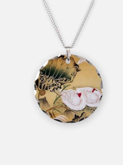 Oriental Swan Motif Necklace