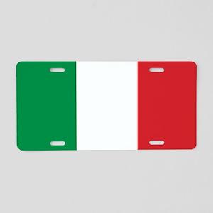 Italian Flag Aluminum License Plate