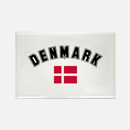 Denmark Flag Rectangle Magnet (10 pack)