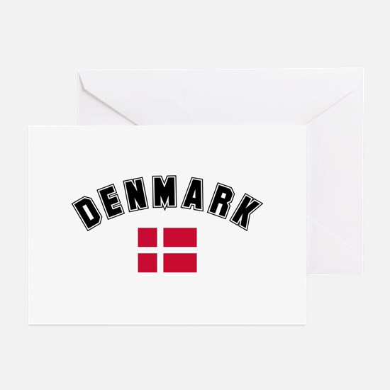 Denmark Flag Greeting Cards (Pk of 10)