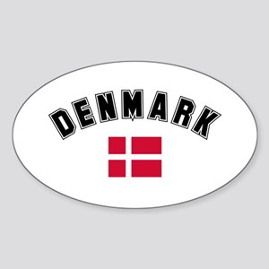Denmark Flag Oval Sticker