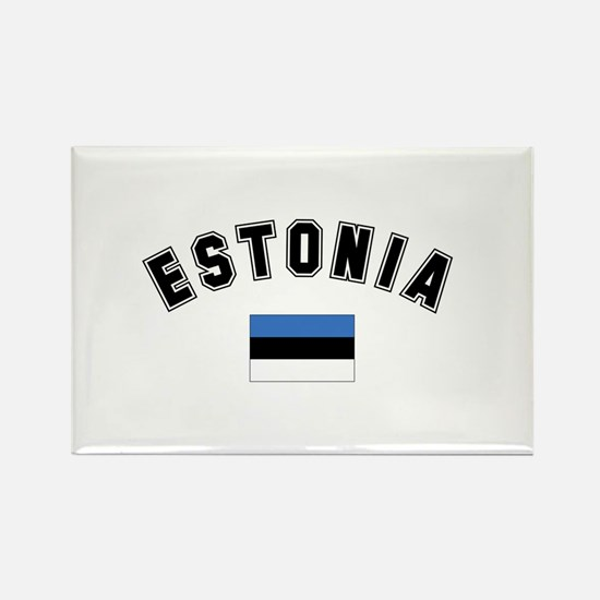 Estonia Flag Rectangle Magnet (10 pack)