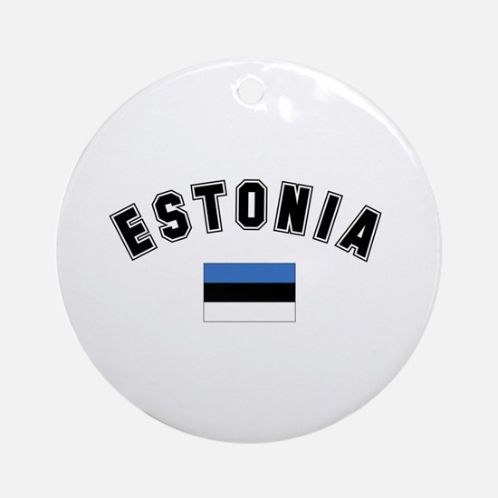 Estonia Flag Ornament (Round)