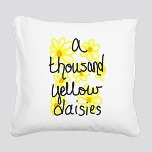 Yellow daisies Square Canvas Pillow