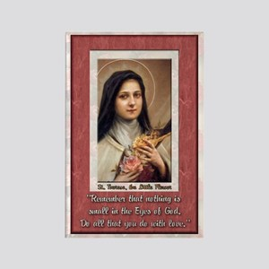 St Therese the Little Flower Rectangle Magnet