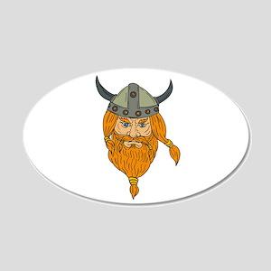 Norseman Viking Warrior Head Drawing Wall Decal