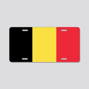 Flag of Belgium Aluminum License Plate