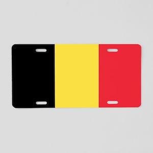Flag of Belgium Aluminum License Plate