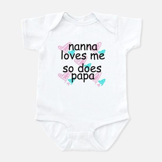 nanna loves me  -so does papa  Infant Bodysuit