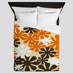 Retro Flowers Duvet Queen Queen Duvet