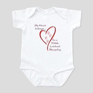 Polish Lowland Heart Belongs Infant Bodysuit