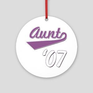 Script Aunt 07 Ornament (Round)