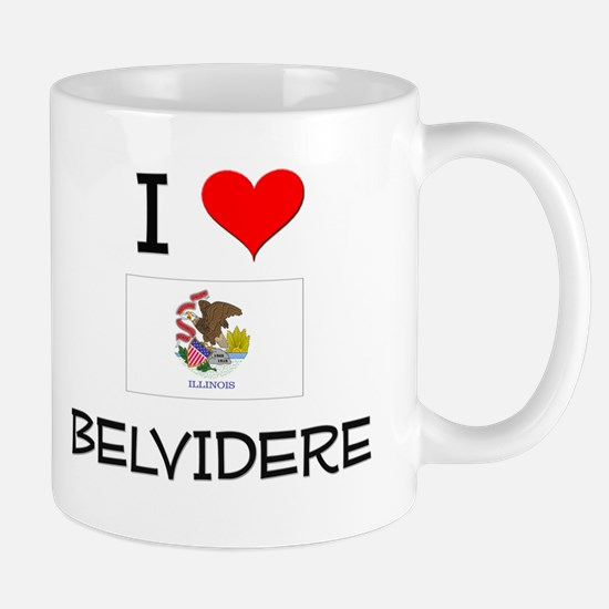I Love BELVIDERE Illinois Mugs