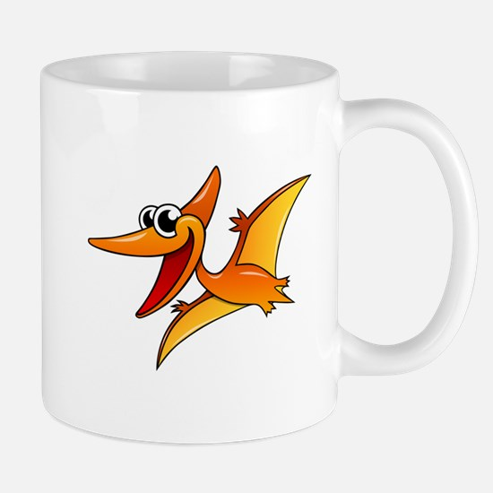 Cartoon Pterodactyl Mugs