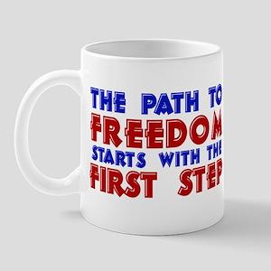 First Step Freedom Mug