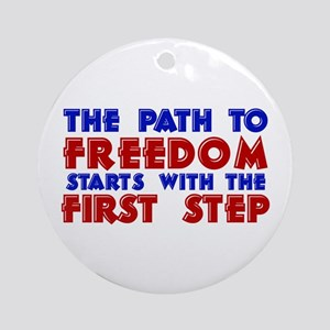 First Step Freedom Ornament (Round)