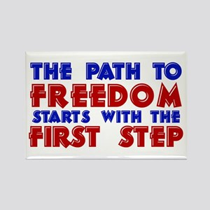 First Step Freedom Rectangle Magnet