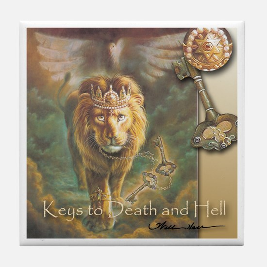 """""""Keys to Death and Hell"""" Fine Art Christian Tile"""