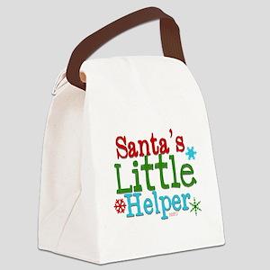 Santas Little Helper Canvas Lunch Bag