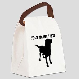 Custom Dog Silhouette Canvas Lunch Bag