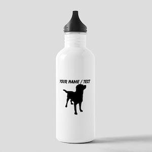 Custom Dog Silhouette Water Bottle