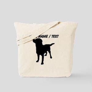 Custom Dog Silhouette Tote Bag