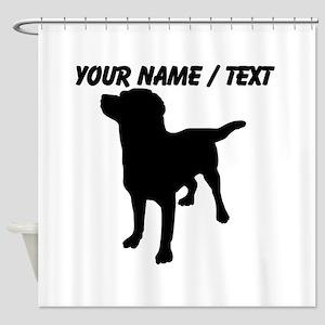 Custom Dog Silhouette Shower Curtain