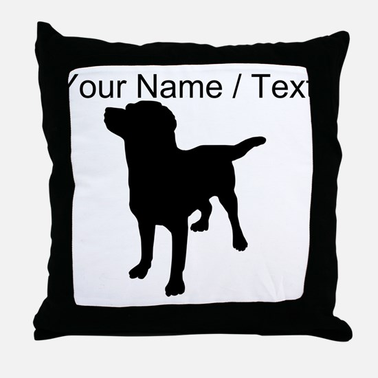 Custom Dog Silhouette Throw Pillow