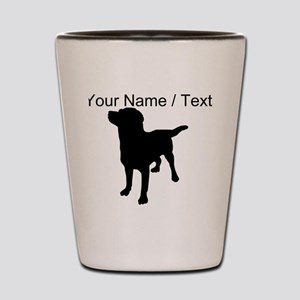 Custom Dog Silhouette Shot Glass