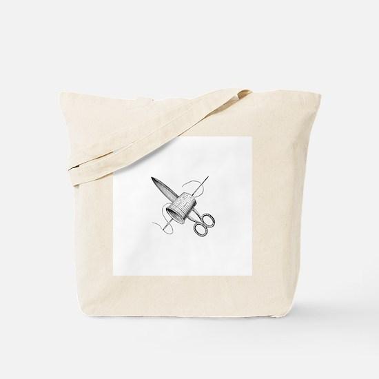 Vintage Sewing Notions Tote Bag