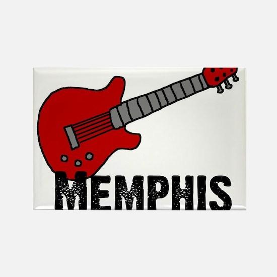 Guitar - Memphis Rectangle Magnet