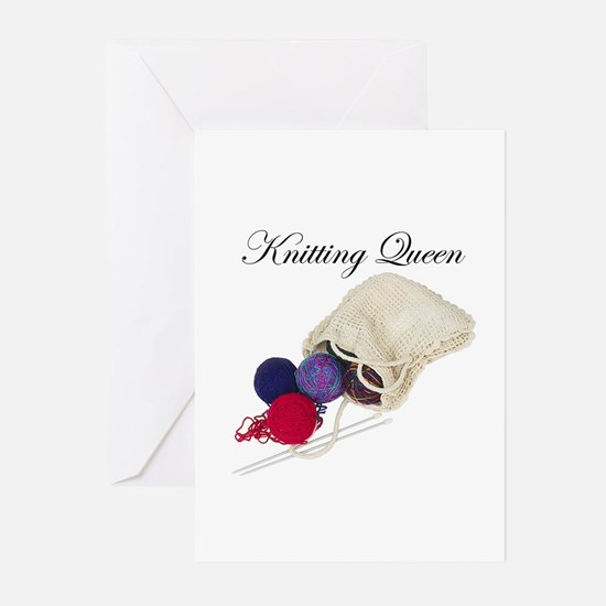 Knitting Queen Greeting Cards (Pk of 10)