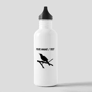 Custom Mockingbird Silhouette Water Bottle