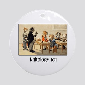 Knitology 101 Ornament (Round)