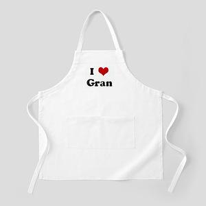 I Love Gran BBQ Apron