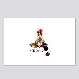 Knit Girl Postcards (Package of 8)